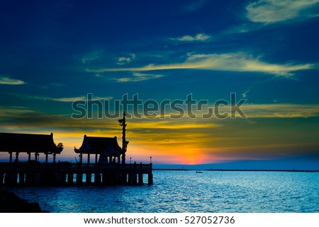 seascape with sunset, Aungsila of Thailand