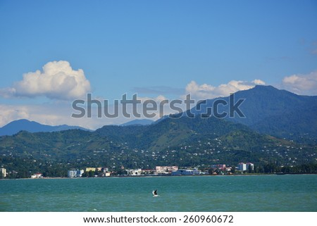 Seashore landscape - stock photo