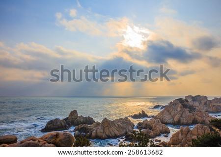 seashore,Ul-san-South Korea - stock photo
