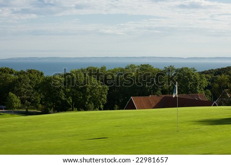 Seaside golf course in Molle, Sweden