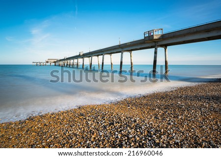 Seaside pier at deal in Kent - stock photo