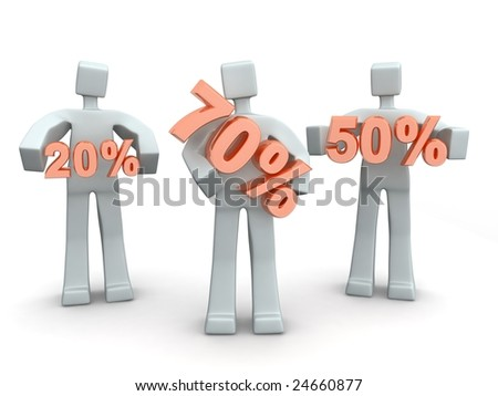 Seasonal or Holiday Sales up to seventy percent - stock photo