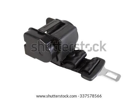 Seat belt machine - stock photo