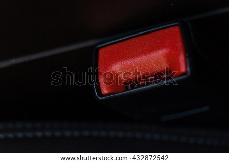 seat belt on a black leather chair