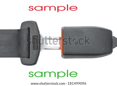 seat belt on a white background - stock photo