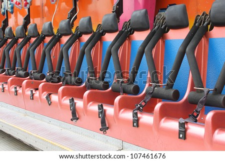 Seat of a fair ride - stock photo