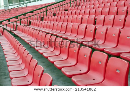 seat stadium - stock photo