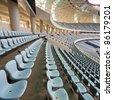 Seat stadium at the neat - stock photo