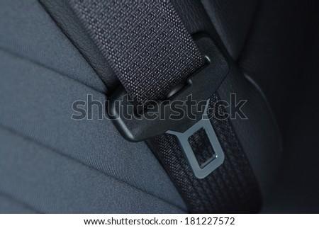Seatbelt buckle inside car seat - stock photo