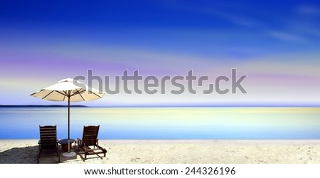 Seats at the beach - stock photo