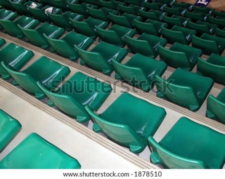 Seats in stadium - stock photo