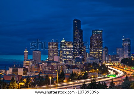 seattle - stock photo