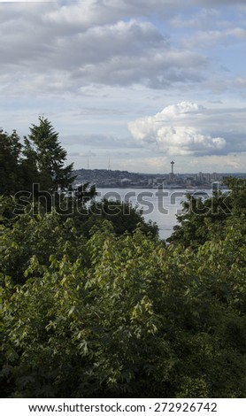 Seattle Downtown Waterfront View - stock photo