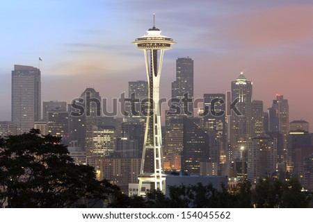 Seattle in the Early Morning  - stock photo