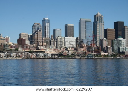 Seattle Skyline Landscape View