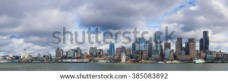 Seattle skyline view from Puget Sound