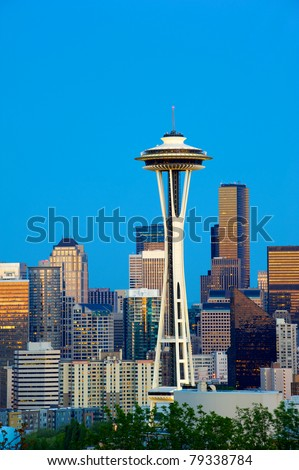 Seattle Skyline with Space Needle Tower