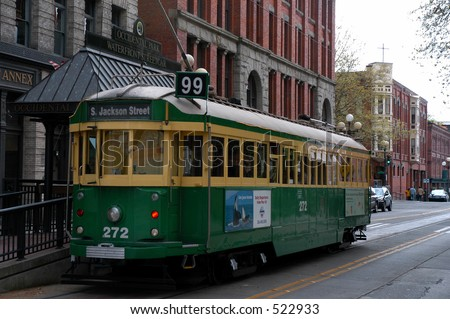 Seattle Trolly - stock photo