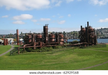 Seattle Washington's Gasworks Park - stock photo