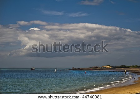 Seaview Michiel de Ruyter Boulevard, Vlissingen (Netherlands) - stock photo