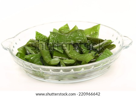 seaweed on a white plate
