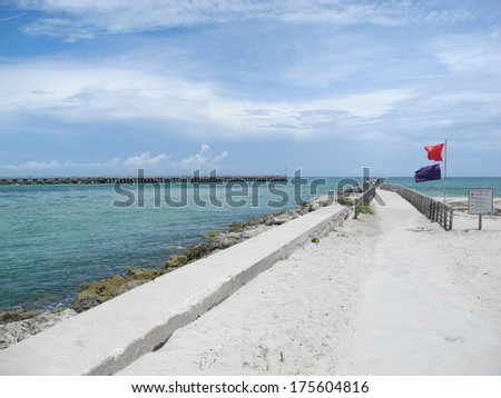 Sebastian Inlet State Park Florida - stock photo