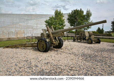 Second war museum weapons and tanks  - stock photo