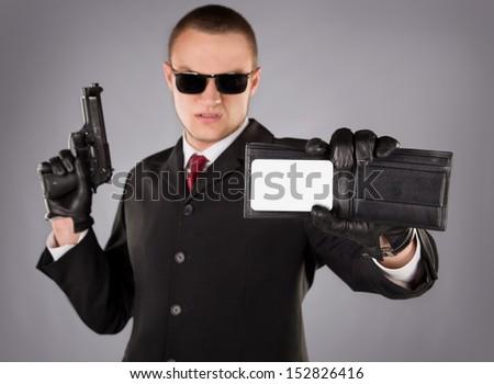 man with gun badge - photo #11
