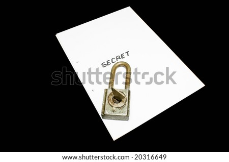 secret file - stock photo