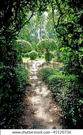 Secret garden - stock photo