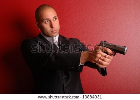 Secret service agent. - stock photo