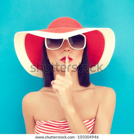 Secret summer Girl - stock photo