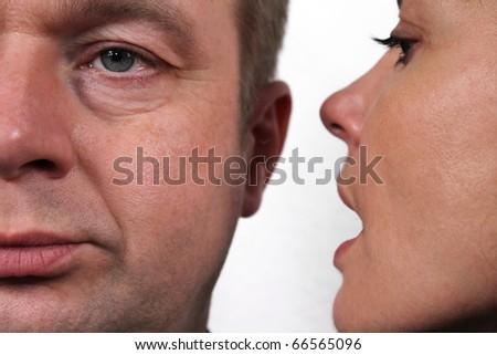 Secret whisper - stock photo