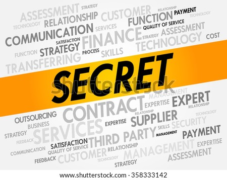 SECRET word cloud, business concept background - stock photo