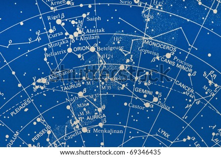 Section Star Map Showing Milky Way Stock Photo Edit Now - Star map now