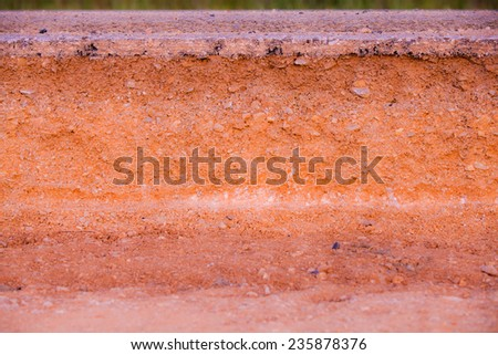 Section of asphalt road. - stock photo