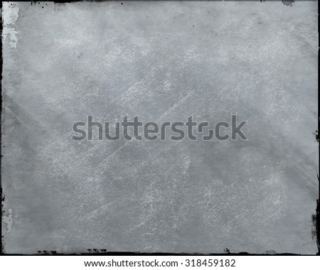 Section of wiped chalk board with black edging - stock photo