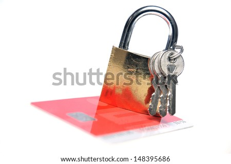 Secure credit card payment - stock photo