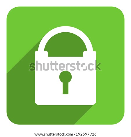 secure flat icon - stock photo