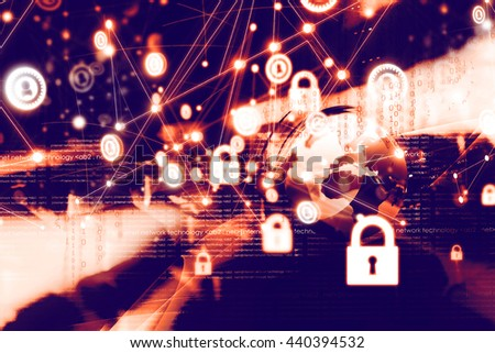 Secure network concept - stock photo