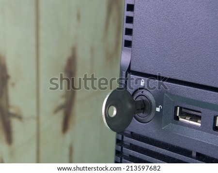 Secure server - stock photo