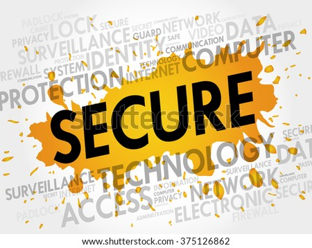 SECURE word cloud, business concept - stock photo