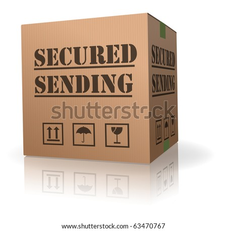 secured package delivery cardboard box shipment secure parcel sending