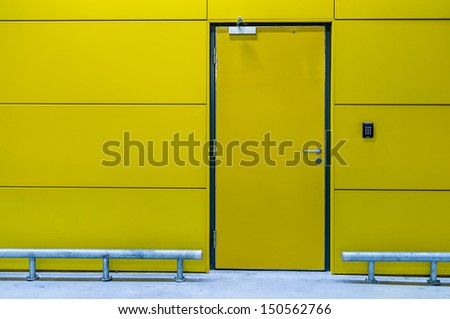 Secured room with keypad - stock photo