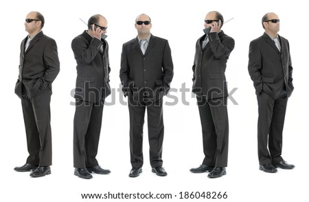 Security agent staff - stock photo
