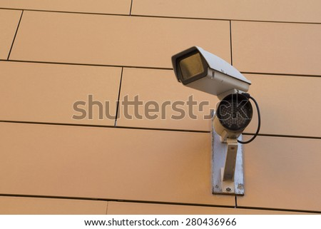 Security cam for video surveillance - stock photo