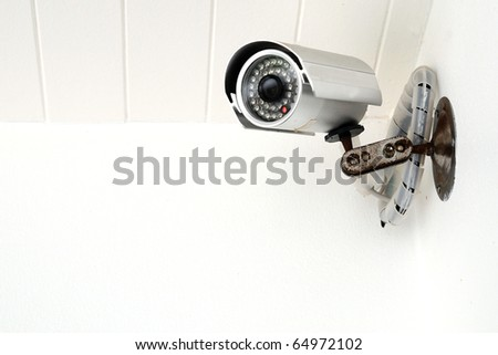 Security Camera,CCTV - stock photo