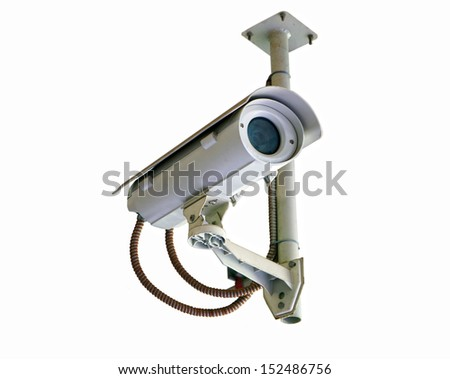 security camera isolated on white