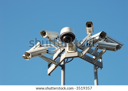 Security cameras on the top