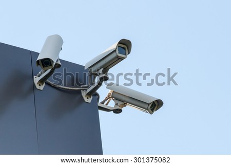 Security cctv cameras - stock photo